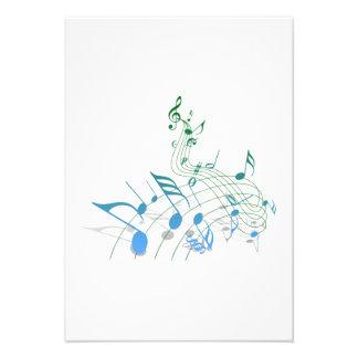 Notas musicais convites