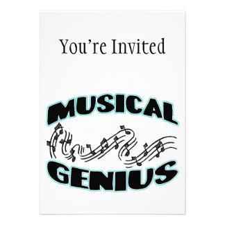 Notas musicais da música do gênio convite