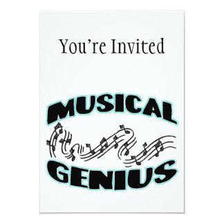 Notas musicais da música do gênio convite 12.7 x 17.78cm