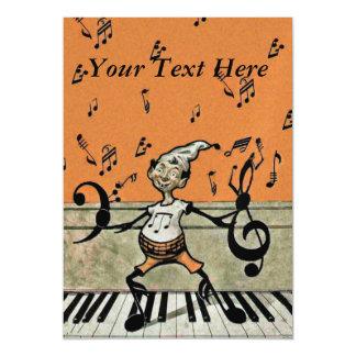 Notas musicais da música do piano do diabrete do