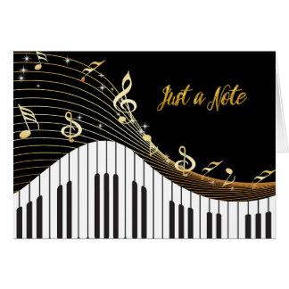 Notas musicais de teclado de piano APENAS uma NOTA Cartão De Nota