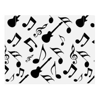 Notas musicais - design da partitura cartão postal