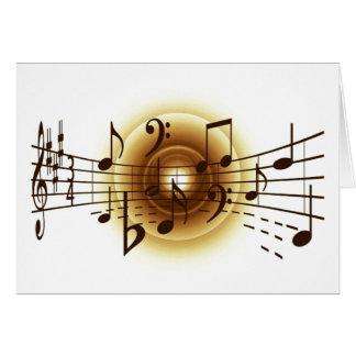 Notas musicais elegantes cartao