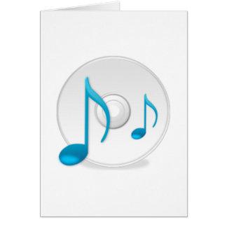 Notas musicais no CD Cartoes