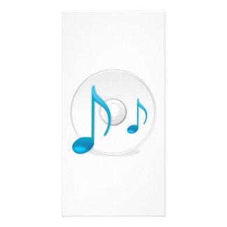 Notas musicais no CD Cartao Com Foto Personalizado