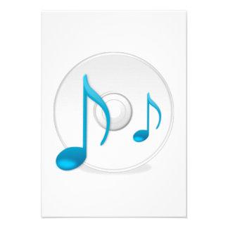 Notas musicais no CD Convite Personalizado