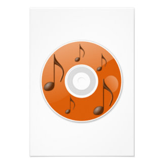 Notas musicais no CD Convites Personalizados