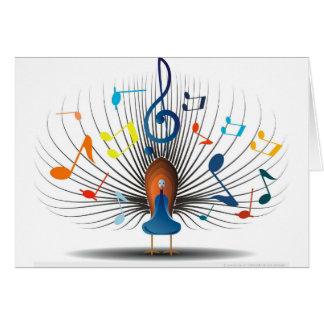 Notas musicais Peecock Cartão Comemorativo