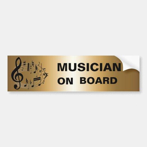 Notas musicais pretas na forma oval NO OURO Adesivos