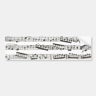 Notas musicais preto e branco adesivos