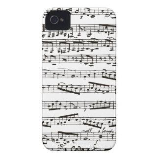 Notas musicais preto e branco capinhas iPhone 4