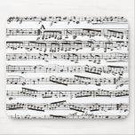 Notas musicais preto e branco mouse pad
