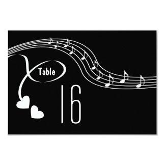 Notas musicais que Wedding o cartão do número da Convite 8.89 X 12.7cm