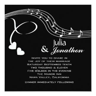 Notas musicais que Wedding o convite