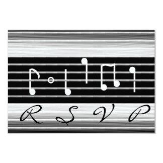 Notas musicais RSVP das cerdas Convite 8.89 X 12.7cm