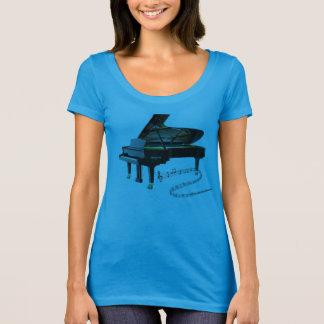Notas pretas do piano de cauda & da música do bebê camiseta