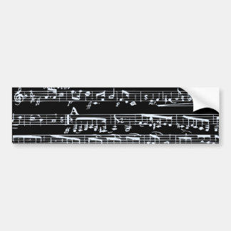 Notas preto e branco da música adesivo