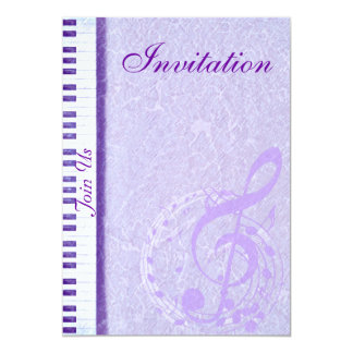 Notas roxas & Keys_Invitation da música Convites Personalizado