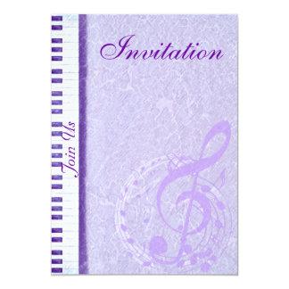 Notas roxas & Keys_Invitation da música Convite 12.7 X 17.78cm