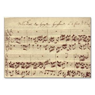 Notas velhas da música - folha de música de Bach