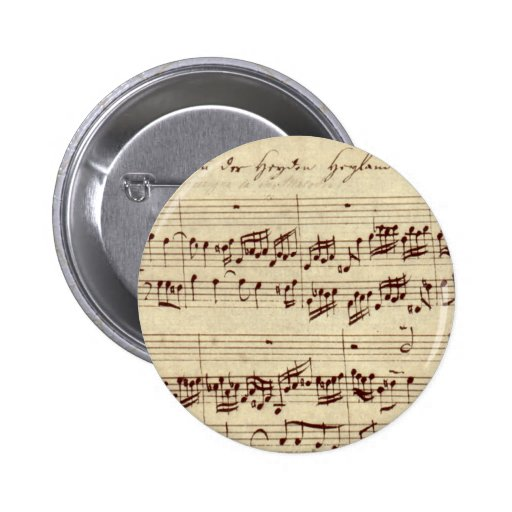 Notas velhas da música - folha de música de Bach Botons