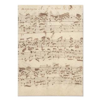 Notas velhas da música - folha de música de Bach Convite Personalizado