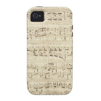 Notas velhas da música - folha de música de Chopin Capinhas iPhone 4/4S