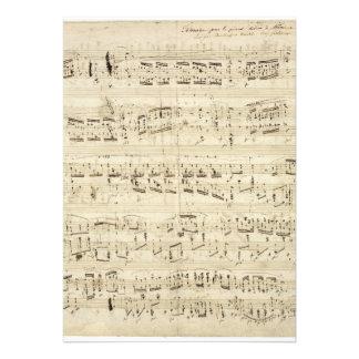Notas velhas da música - folha de música de Chopin Convites