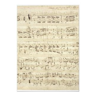 Notas velhas da música - folha de música de Chopin Convite 12.7 X 17.78cm