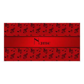 Notas vermelhas conhecidas personalizadas da cartão com foto