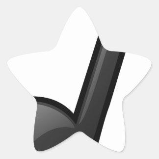 note o símbolo de música adesito estrela