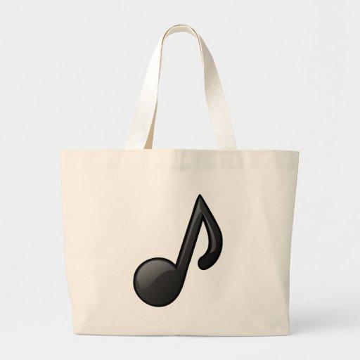 note o símbolo de música bolsas de lona