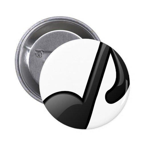 note o símbolo de música boton