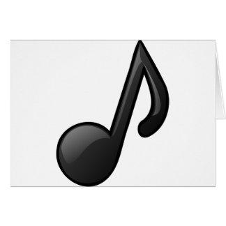 note o símbolo de música cartão