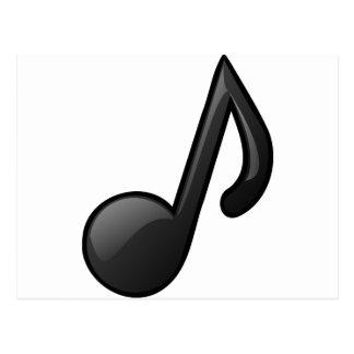 note o símbolo de música cartão postal