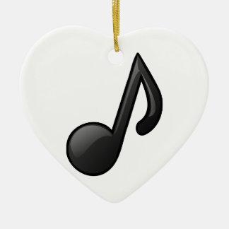 note o símbolo de música ornamento de cerâmica coração