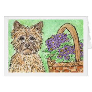Notecard do cartão de aniversário de Terrier de