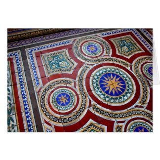 Notecard vibrante do mosaico cartão de nota
