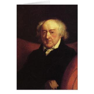 Notecards de John Adams Cartão Comemorativo