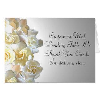 Notecards feitos sob encomenda da flor do gardenia cartão de nota
