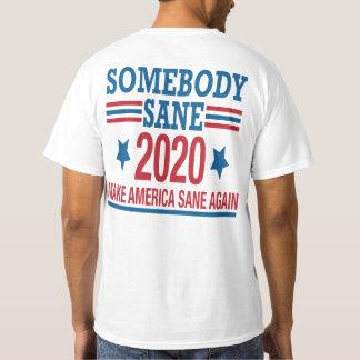 Notícia americana X, alguém camisa 2020 sã