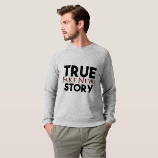 Notícia verdadeira da falsificação da história moletom