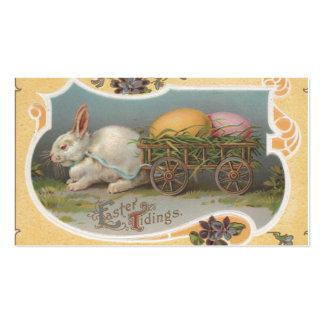 Notícias da páscoa do vintage cartão de visita
