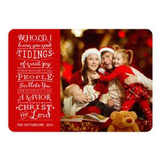 Notícias de grandes cartões de fotos das bênçãos convite 12.7 x 17.78cm