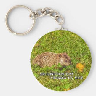 Notícias do dia de Groundhog a você! chaveiro