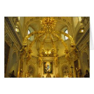 Notre Dame cartão de Natal de Cidade de Quebec,