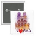 Notre Dame de Paris Bóton Quadrado 5.08cm