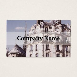 Notre Dame e arquitetura parisiense Cartão De Visitas