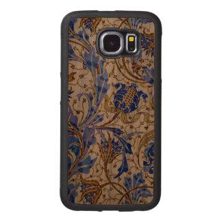 Nouveau azul capa de madeira para telefone