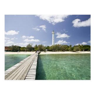 Nova Caledônia, ilhota de Amedee. Cais da ilhota Cartão Postal